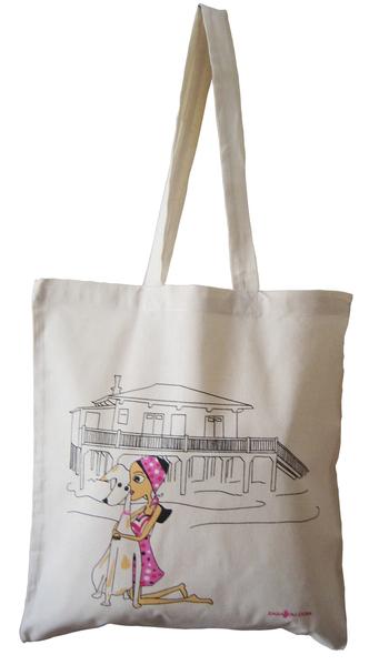 Sac_Shopping_coton_bio_La_Petite_Parisienne_en_vacances_Zazazou